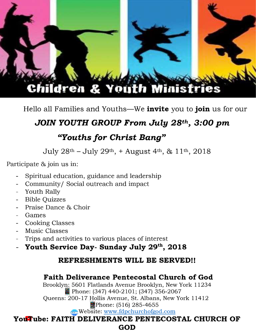 Youth for Christ Flyer